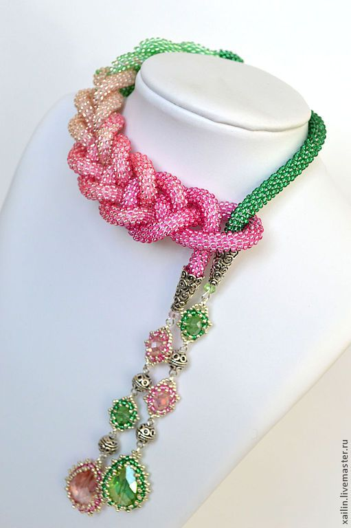 """Inspiration on a new way to wear my """"scarf bead"""" necklaces"""