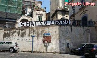 Progetto Ultras: Striscione degli ultras salerno per San Matteo