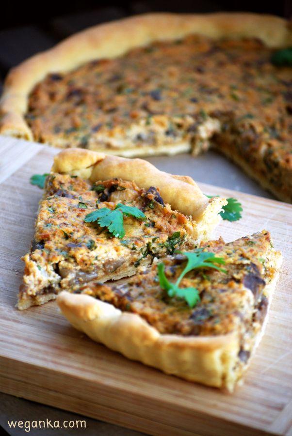 Kuchnia wegAnki: Tarta z boczniakami i wędzonym tofu