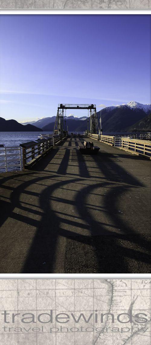 Porteau cove pier, near Squamish, BC, Canada