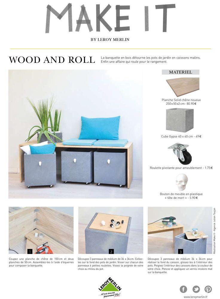Comment créer un banc et des rangements ? #DIY