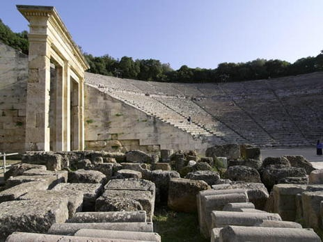 temple of the greek god Asklepios at Epidaurus - where the sick would fall asleep and be healed through dreams   #outdoorsgr
