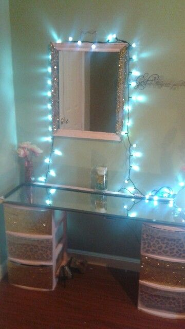 My Homemade mirrored vanity                                                                                                                                                                                 More