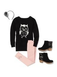 Intarsia owl tunic sweater #GapLove Pin your wishlist here: gap.us/PinToWin