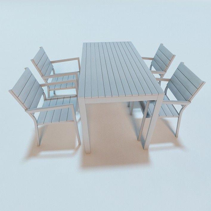 3d model ikea falster garden furniture 3d model