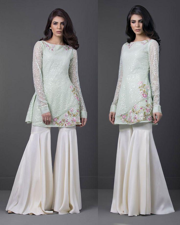 Sania Maskatiya raw silk gharara
