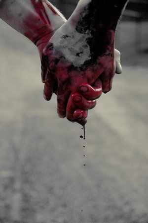 bloody hand holding - photo #1