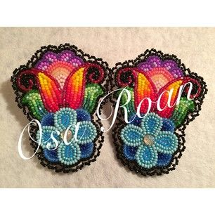 Osa Roan @osamuskwasis Earrings I madeInstagram photo | Websta (Webstagram)