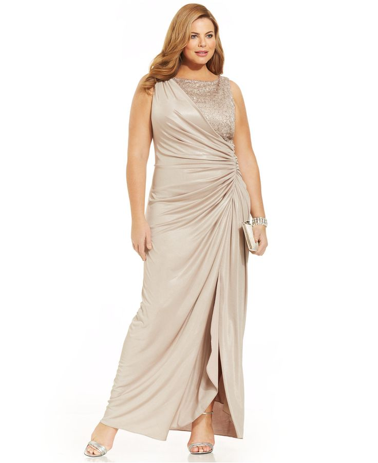 Mother of the bride dresses in plus sizes at macy 39 s for Macy s wedding dresses plus size