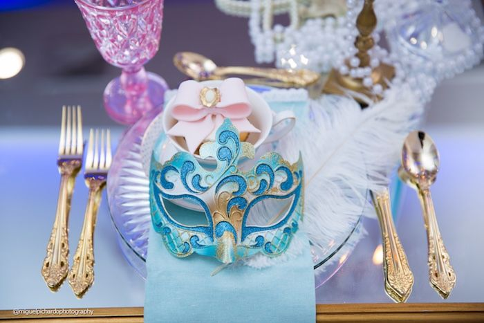 Place Setting From A Marie Antoinette Baby Shower On Kara