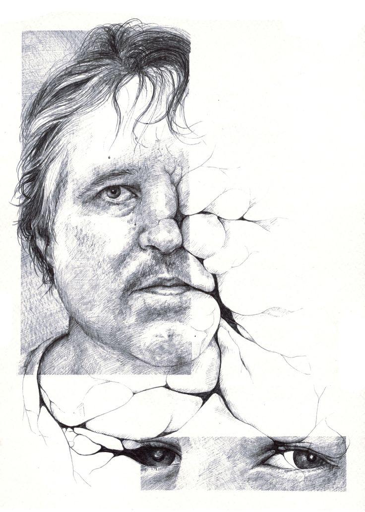 Salomé Pia, Infiltration n°1, 21x29,7 cm, crayon bic, 2014