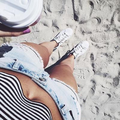 Stan Smith's on the beach? Why not #StanSmith #adidasXcovetme #adidas #covetme