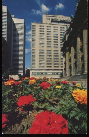 Hilton Postcard, The Queen Elizabeth Hotel, Montreal. C 3020