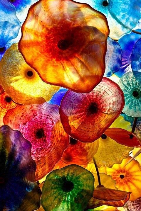 Colored rainbow glass
