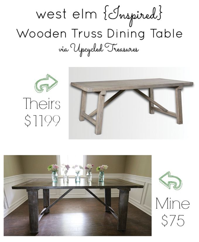 diy-dining-room-table-before-west-elm-wooden-truss-knockoff-upcycledtreasures