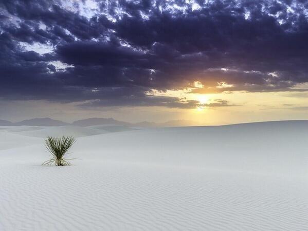 Las arenas blancas de Nuevo México.