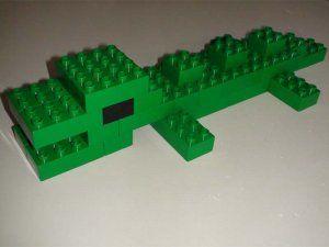 Met stappenplan:Duplo Animal - Crocodile