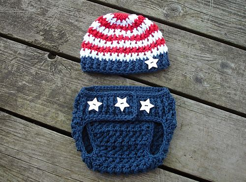 Ravelry: Stars & Stripes Diaper Cover pattern by Crochet by Jennifer