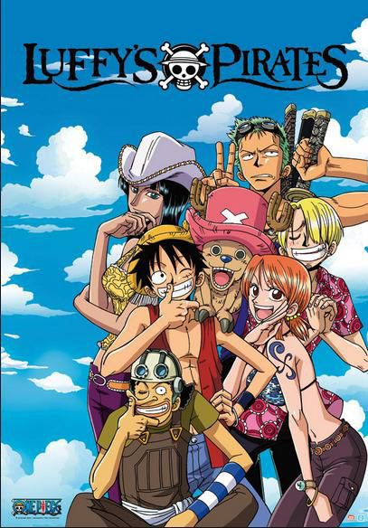 Póster Personajes One Piece Póster con la imagen de los compañero de Luffy en One Piece.