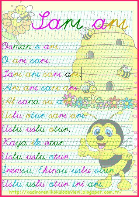 ilkokul ödevleri: 1. sınıf metin sarı arı