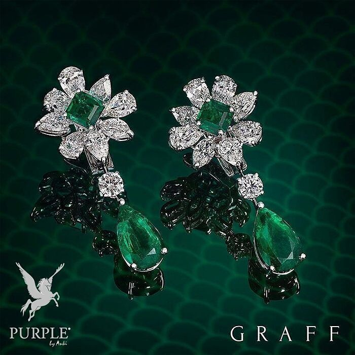 """Check out this stunning and mesmerizing """"Salon de Mars Pampille"""" earrings in…"""