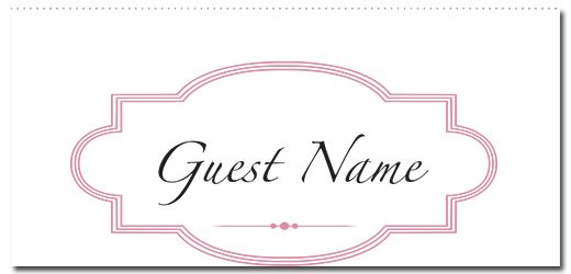 Ribbon & Lace Suite Guest Place Card - paper, seed, place, cards, printed, plain, add, ... - EcoCelebrations