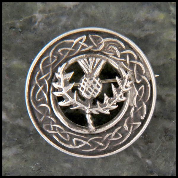 Thistle Brooch Sterling Silver