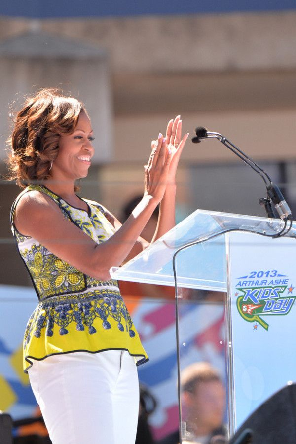 Fabulously Spotted: Michelle Obama Wearing Prabal Gurung - 2013 Arthur Ashe Kids Day - http://www.becauseiamfabulous.com/2013/08/michelle-obama-wearing-prabal-gurung-2013-arthur-ashe-kids-day/