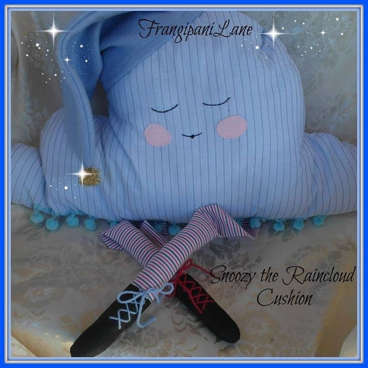 Snoozy the Winter Raincloud Cushion. Winter Wonderland Market Night opens at 9pm, on Tuesday 27th May, 2014. The first person to comment sold will be able to purchase the item direct from the business listed on the item.