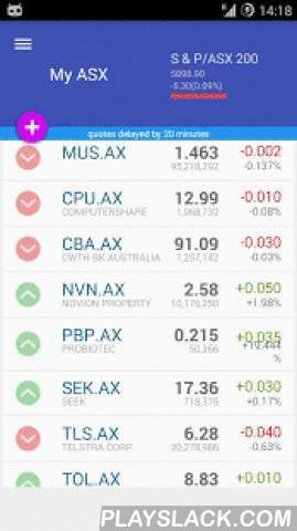 My ASX Australian Stock Market  Android App - playslack.com ,  My ASX allows you to monitor and manage your portfolio for Australian Securities Exchange, ASX in your mobile phone. It features an easy to use interface with the latest Lollipop material desi http://www.buzzblend.com