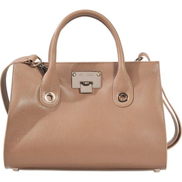 Jimmy Choo Riley medium tote ($1,001) ❤ liked on Polyvore featuring bags, handbags, tote bags, beige, beige purse, medium tote, jimmy choo, medium tote bags and jimmy choo purses