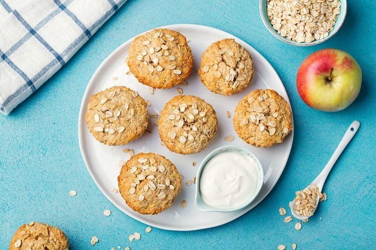 Muffins de melocotones y crema - Kayla Itsines
