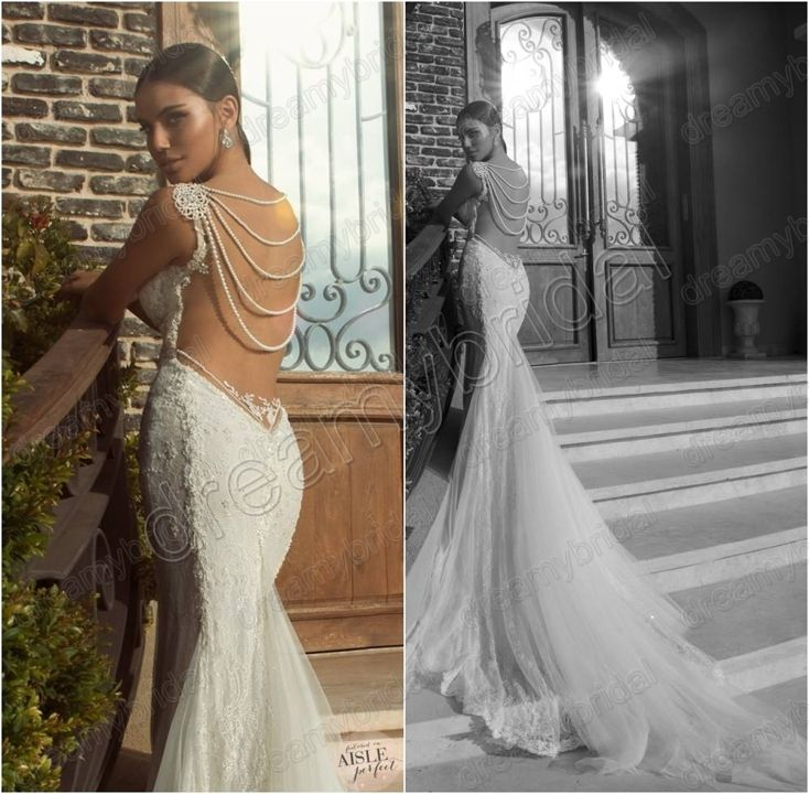 145 best hot mermaid wedding dresses images on pinterest for Vintage backless wedding dresses