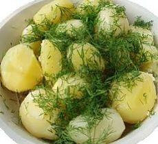 РЕЦЕПТЫ   Молодой картофель с укропом