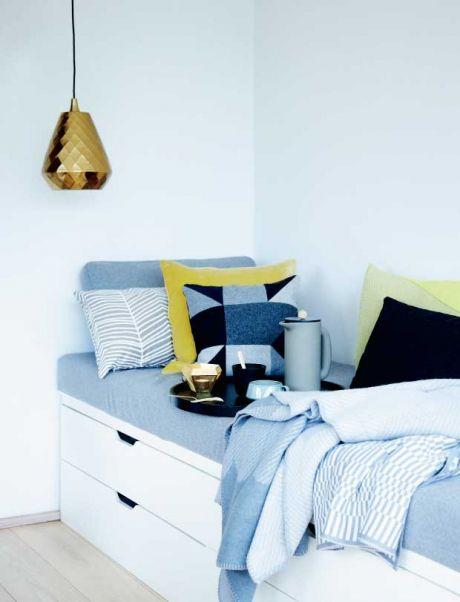 Ikea 'Nordli' drawers as bench