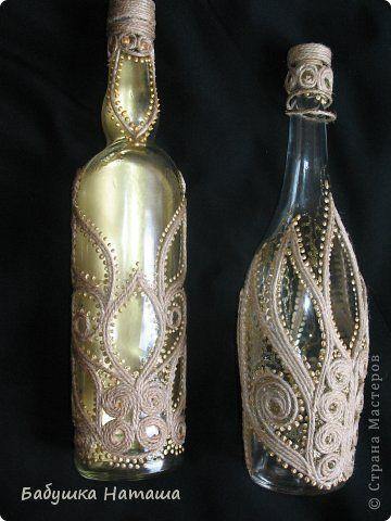 Декор предметов Аппликация из скрученных жгутиков Джут и Контур 2 Шпагат фото 1