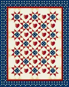 I Love America - free ohio star patriotic quilt pattern from mccallsquilting.com