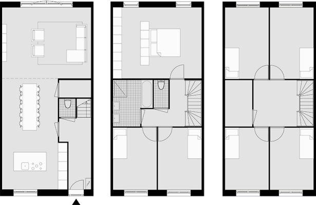 25 beste idee n over thuis plattegronden op pinterest huisplattegronden huis blauwdrukken en - Interieurontwerp thuis kleur ...