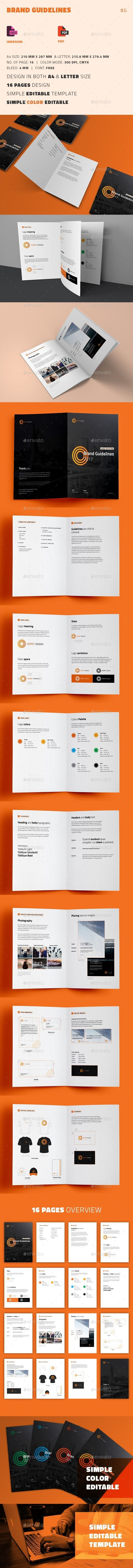 Brand Guidelines Template InDesign INDD