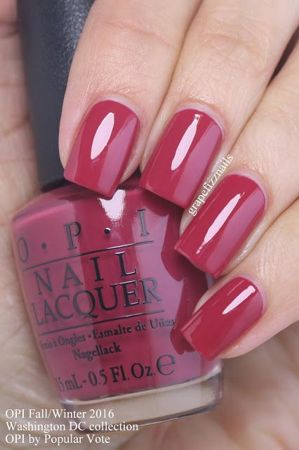 OPI by Popular Vote, a cool apple red nail polish / lacquer from the OPI Washington DC Collection for Fall/Winter 2016