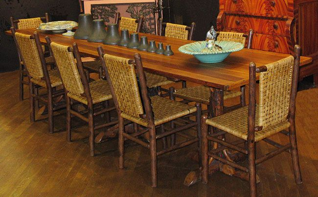 Old hickory dining table old hickory furniture How to renovate old furniture