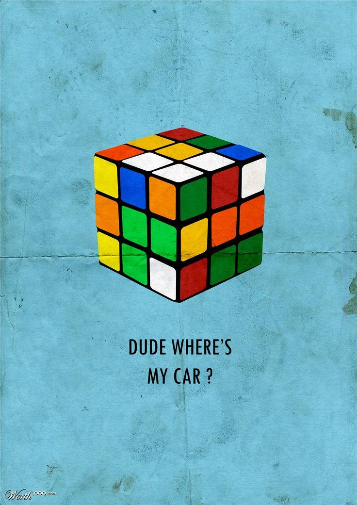 Dude, Where's My Car? (2000) ~ Minimal Movie Poster by Matt Sharah #amusementphile