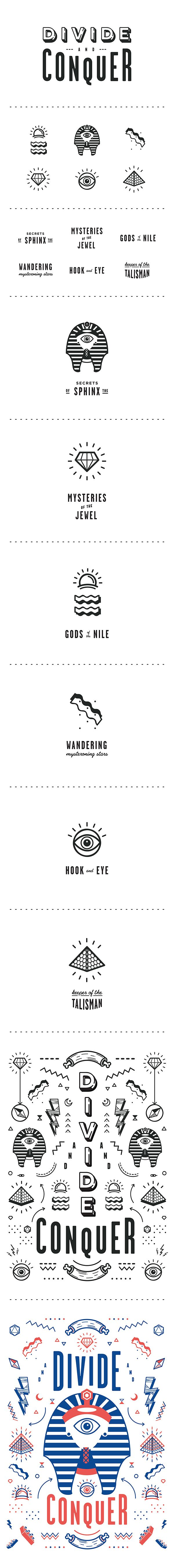Cryptic Memphis by Oddds, via Behance