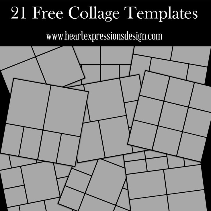 4 picture collage template - heart expressions design 21 free photoshop collage