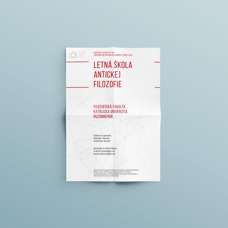 my graphic design portfolio - flyer - letná škola antickej filozofie