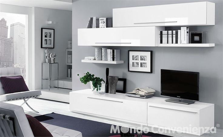 soggiorno skema - mondo convenienza | foto x casa | pinterest ... - Mobili Buffet Mondo Convenienza