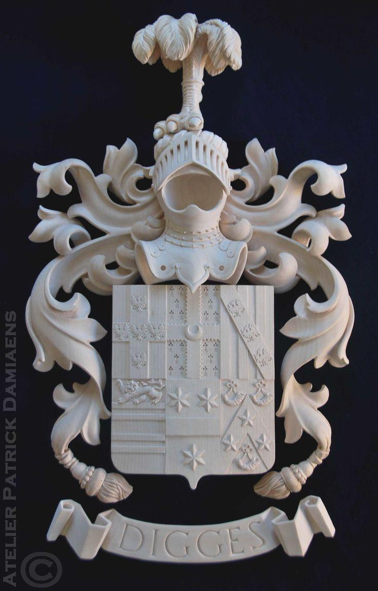 Sculpteur ornemaniste sur bois | Patrick Damiaens | Sculpteur sur bois Hèraldique
