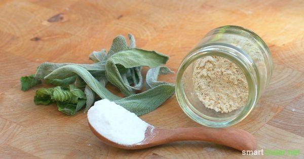Selbstgemachtes Zahnputzpulver mit Rosskastanien und Natron - Reinigt, pflegt und hellt auf