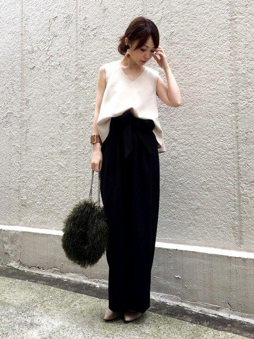 Spick & Spanのパンツ「ウエストベルトツキタックセミワイドパンツ◆」を使ったari☆のコーディネートです。WEARはモデル・俳優・ショップスタッフなどの着こなしをチェックできるファッションコーディネートサイトです。