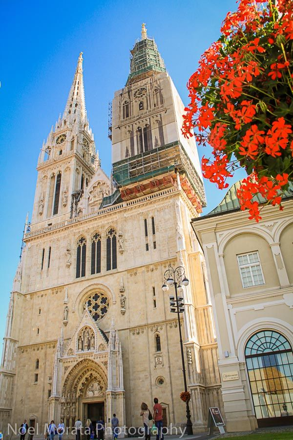 10 things worth doing in Zagreb, Croatia - A visit to the Cathedral of Zagreb – the main cathedral on Kaptol is an iconic building and the tallest building in the historic district of Zagreb. The Roman Catholic churh is dedicated to the Assumption of Mary and the Saints King Stephens and Saint Laudilaus. A large gothic style cathedral is a stunning structure, inside and out and worth a visit in the historic district.